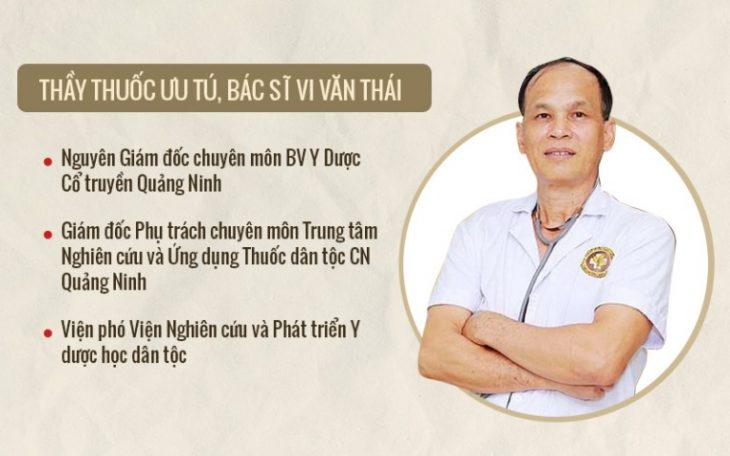 Thầy thuốc ưu tú, bác sĩ Vi Văn Thái