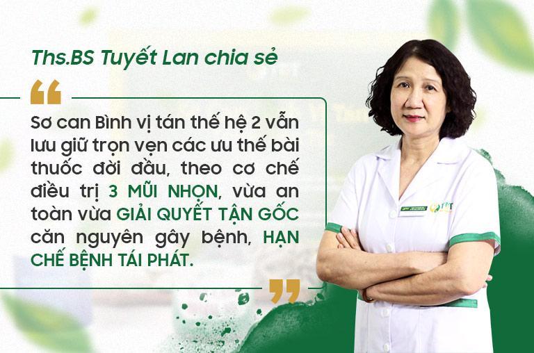 Bác sĩ Tuyết Lan chia sẻ cơ chế điều trị khi kết hợp thêm Sơ can Bình vị tán thế hệ 2