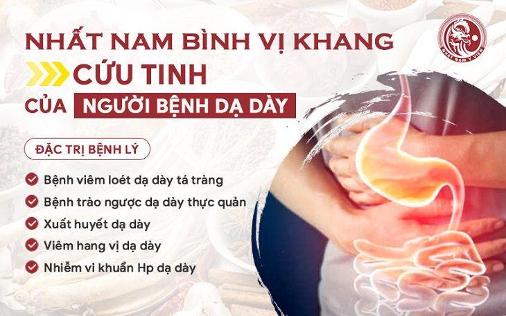 Nhất Nam Bình Vị Khang - Giải pháp chữa trào ngược dạ dày và bệnh bệnh lý dạ dày hiệu quả