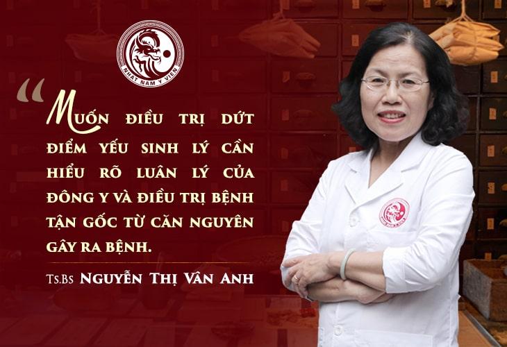 TS.BS Vân Anh chia sẻ nguyên tắc điều trị bệnh nam khoa