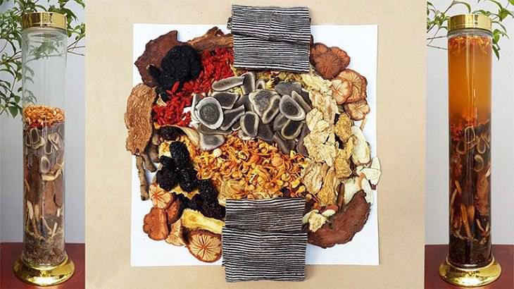 Nhất Nam Minh Mạng Tửu có chứa nhiều vị thuốc độc đáo