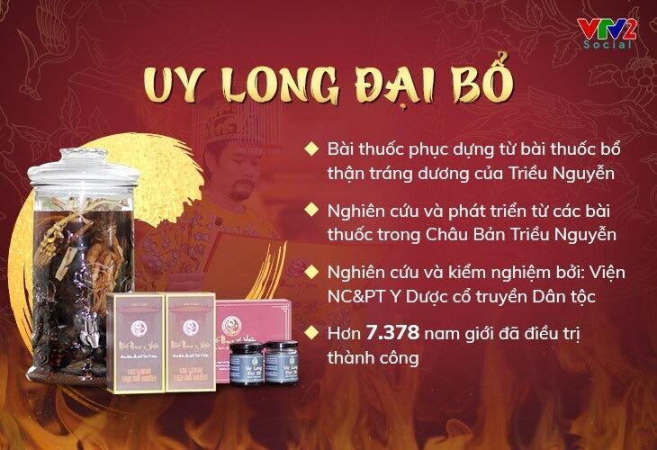 Uy Long Đại Bổ là bài thuốc chữa yếu sinh lý được bác sĩ Vân Anh nghiên cứu và phát triển