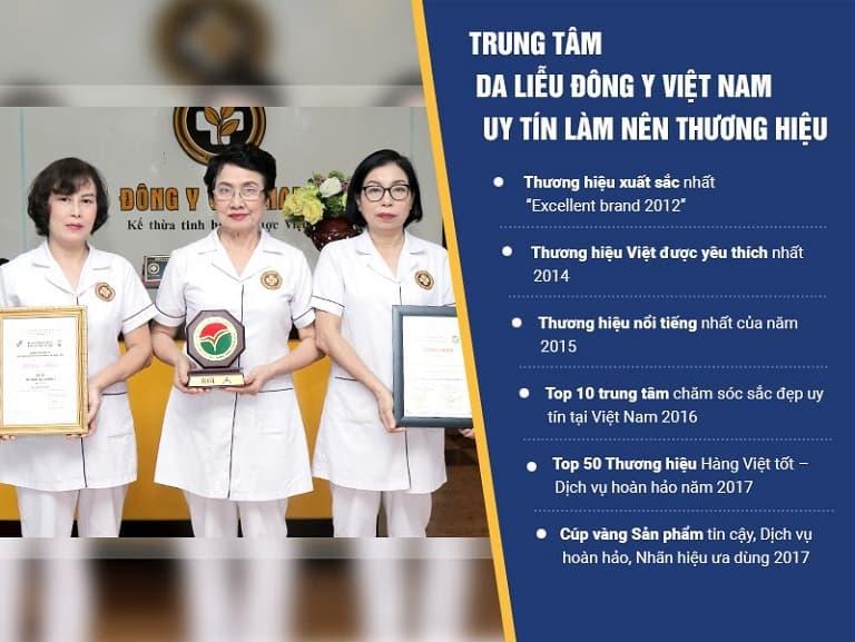 Trung tâm Da liễu Đông y Việt Nam có bề dày lịch sử và uy tín trong thăm khám và chăm sóc da